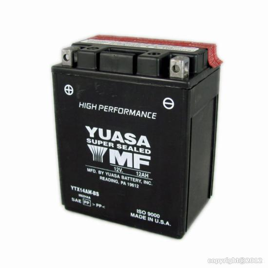 batteries yuasa ytx14ah bs polaris sportsman 570. Black Bedroom Furniture Sets. Home Design Ideas